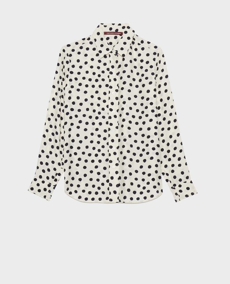 SIBYLLE - Camisa de seda con estampado Maxidot ecru Nabilo