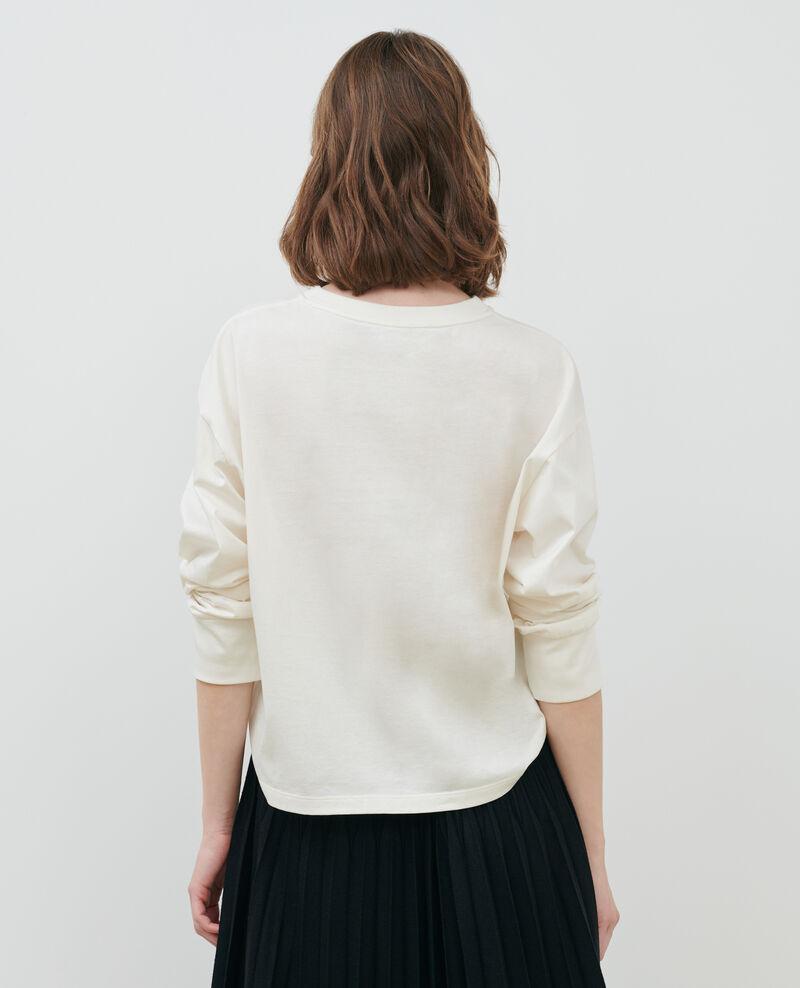 Camiseta de algodón con cuello barco y manga larga Jet stream Mainzac