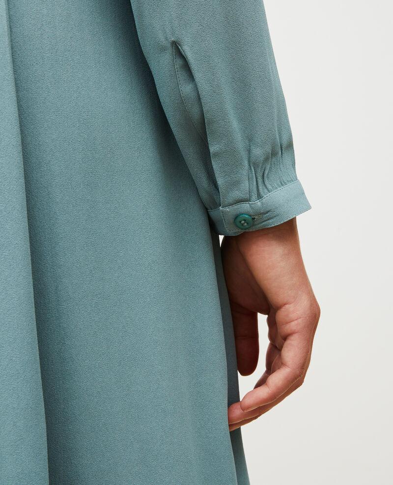 Vestido plisado con cinturón  Treillis Marcilia
