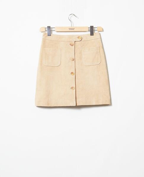 Comptoir des Cotonniers - Falda corta de ante Camel beige - 2