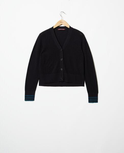 Comptoir des Cotonniers - Cárdigan de lana Noir - 2