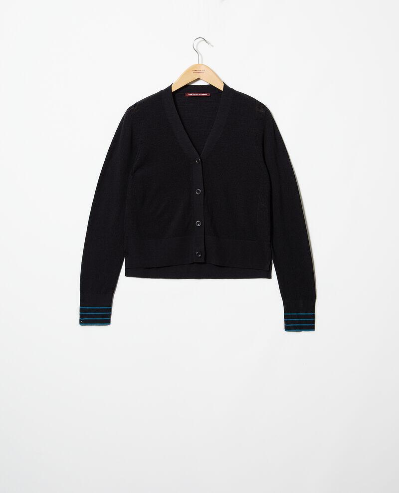 Cárdigan de lana Noir Idada