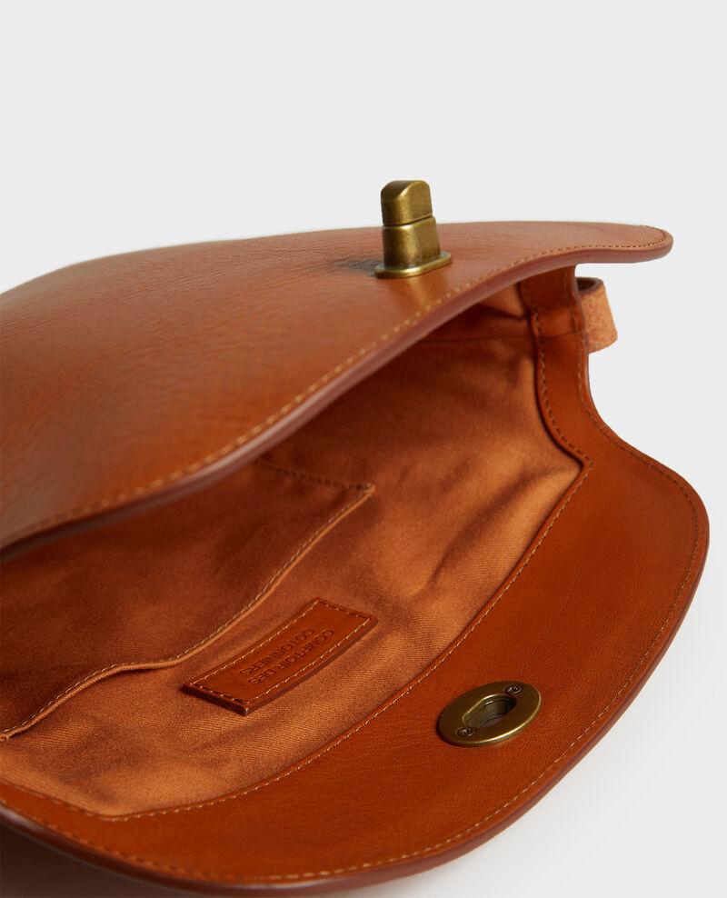 Bolso de cuero con bandolera corta Camel Lidylle
