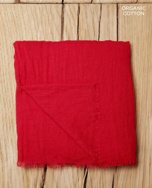 Fular de algodón orgánico POMPEIAN RED
