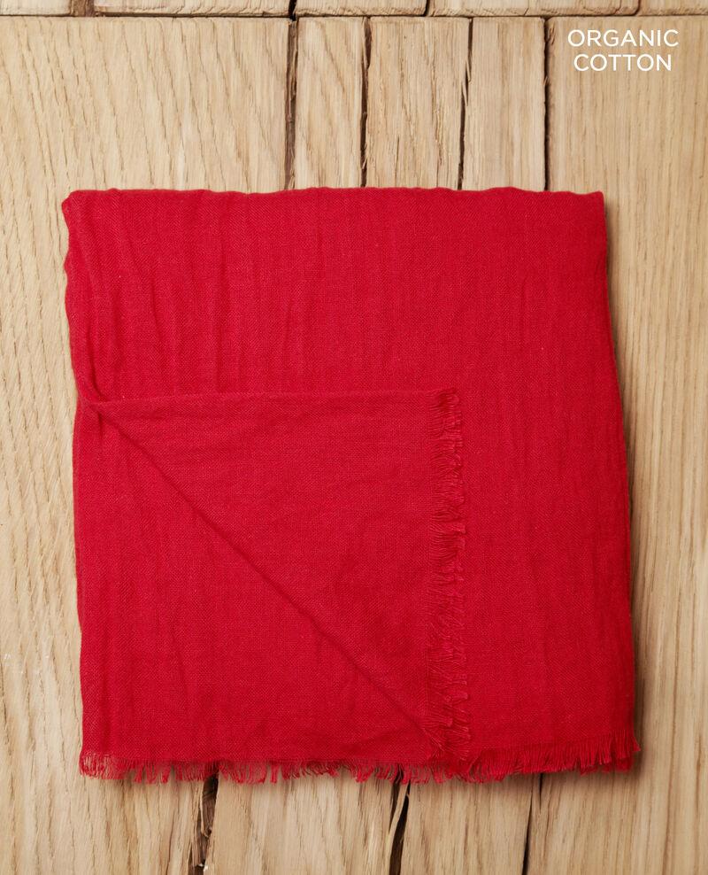 Fular de algodón orgánico Pompeian red Geste