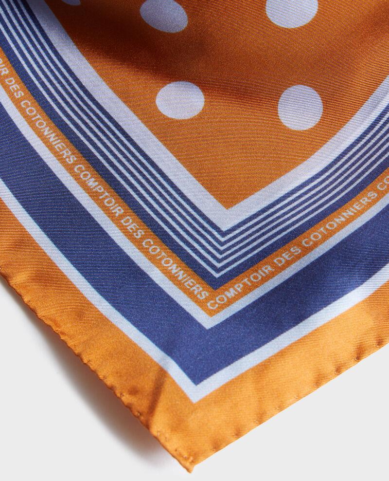 Foulard cuadrado de seda con lunares Pumpkin spice Nois