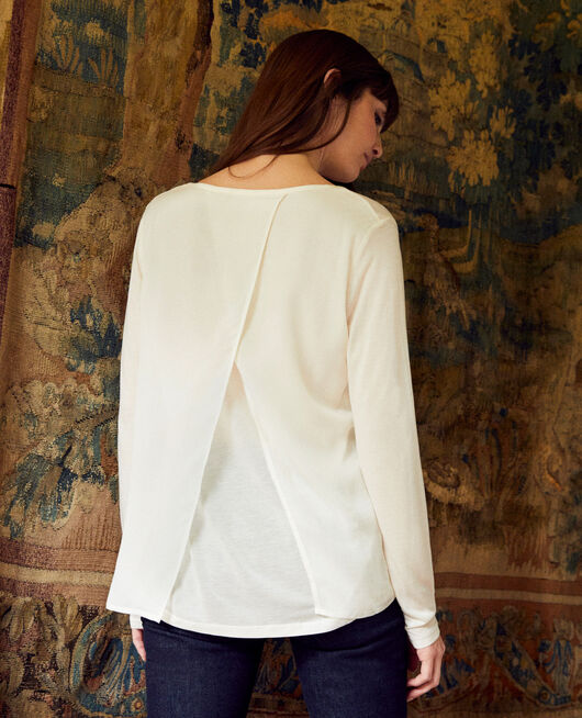 Camiseta de dos materiales OFF WHITE