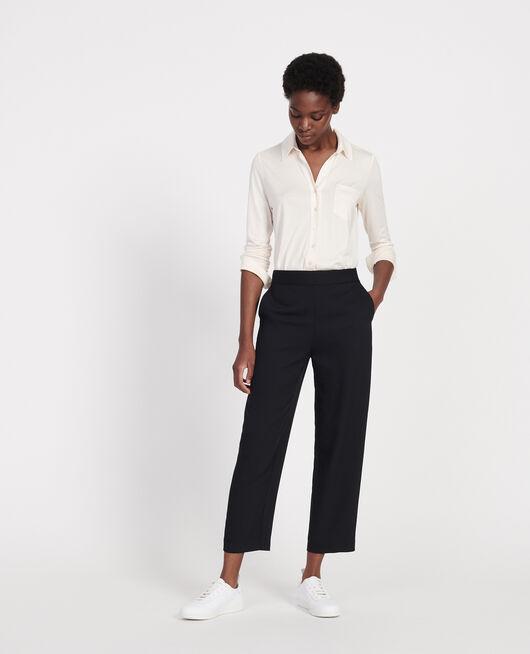 Pantalón fluido elástico de poliéster BLACK BEAUTY
