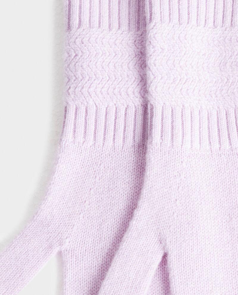 Guantes de cachemir Pastel lilac Miramo