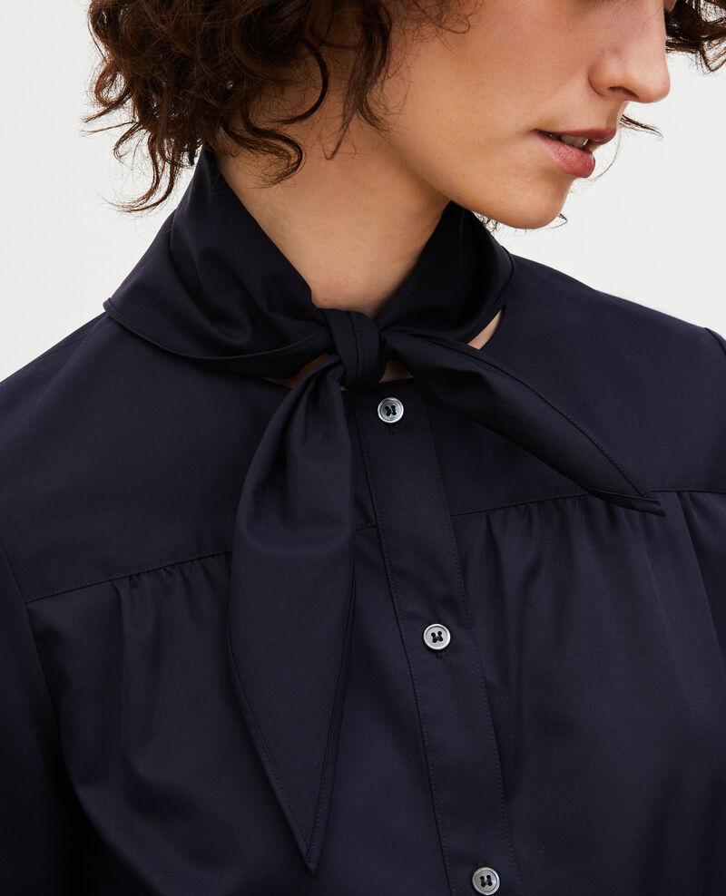 Blusa de algodón con cuello fular desmontable Night sky Manosque