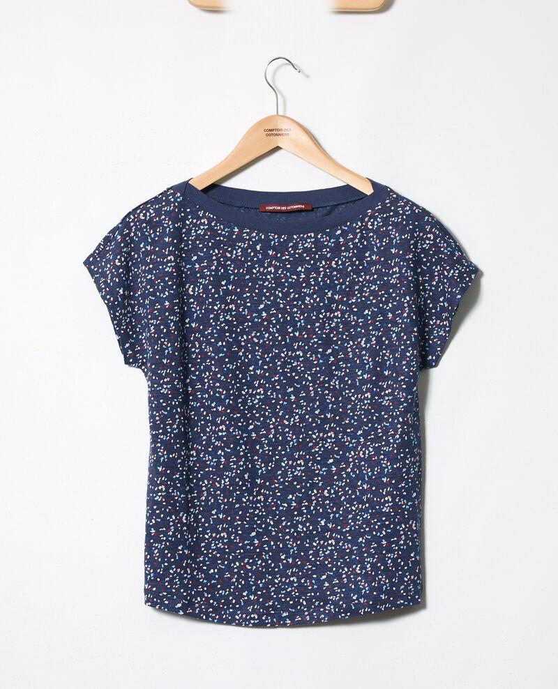 Camiseta de cuello barco Confetti ink navy Idilika