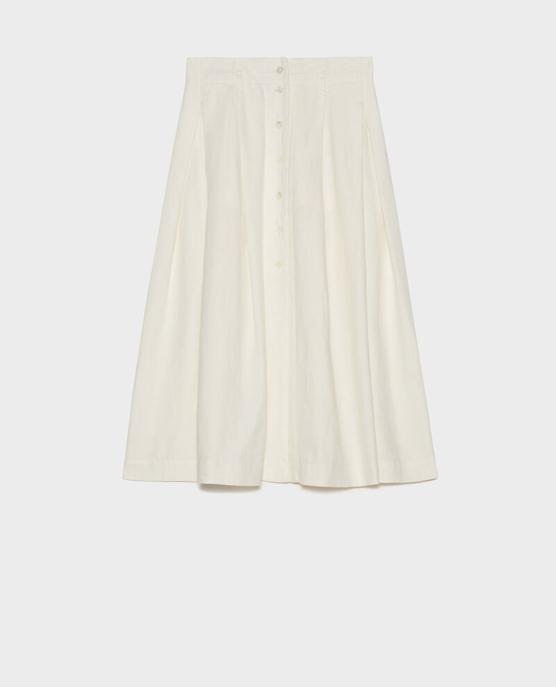 Falda midi de lino Gardenia Lorlange