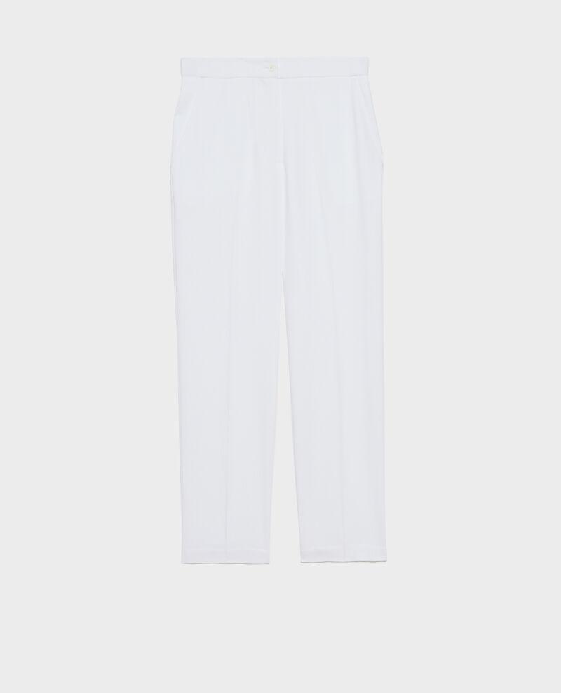 Pantalón MARGUERITE elástico 7/8 Brilliant white Napoli