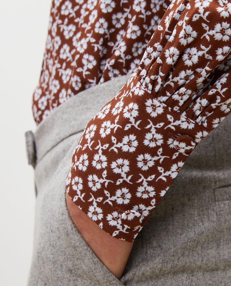 Blusa con manga larga y estampado floral Print fleurettes tortoise shell Manrant