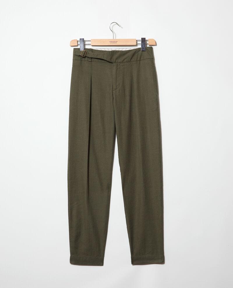 Pantalón con lino Military green Inouri
