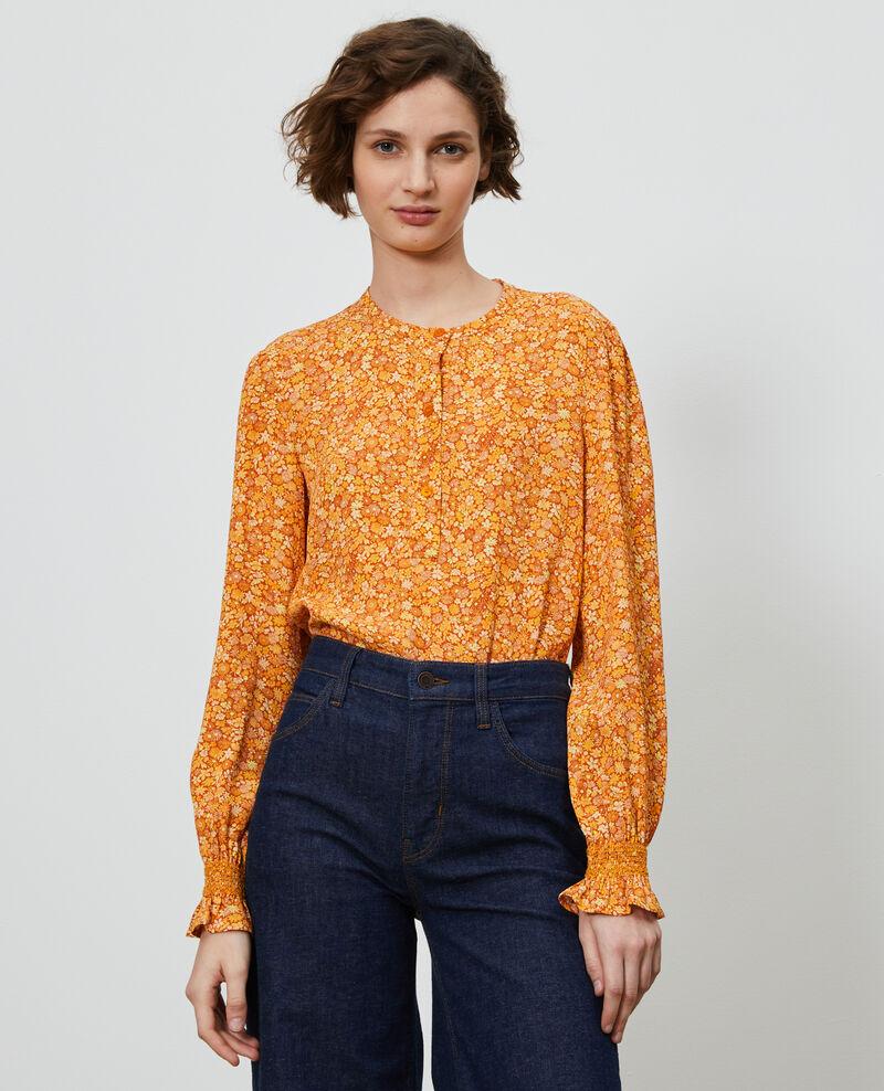 Blusa con estampado de flores Garden yellowflame Ninu