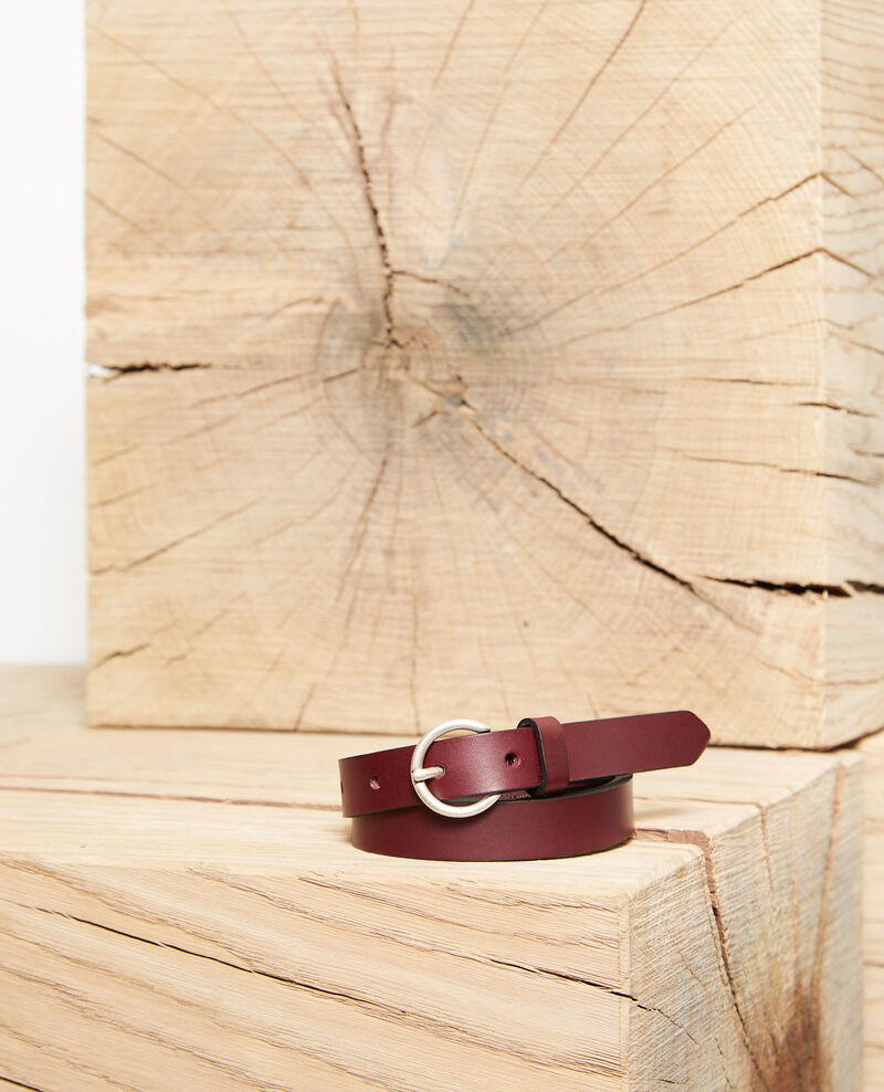 Cinturón de piel lisa tamaño pequeño Decadente chocolate Girard