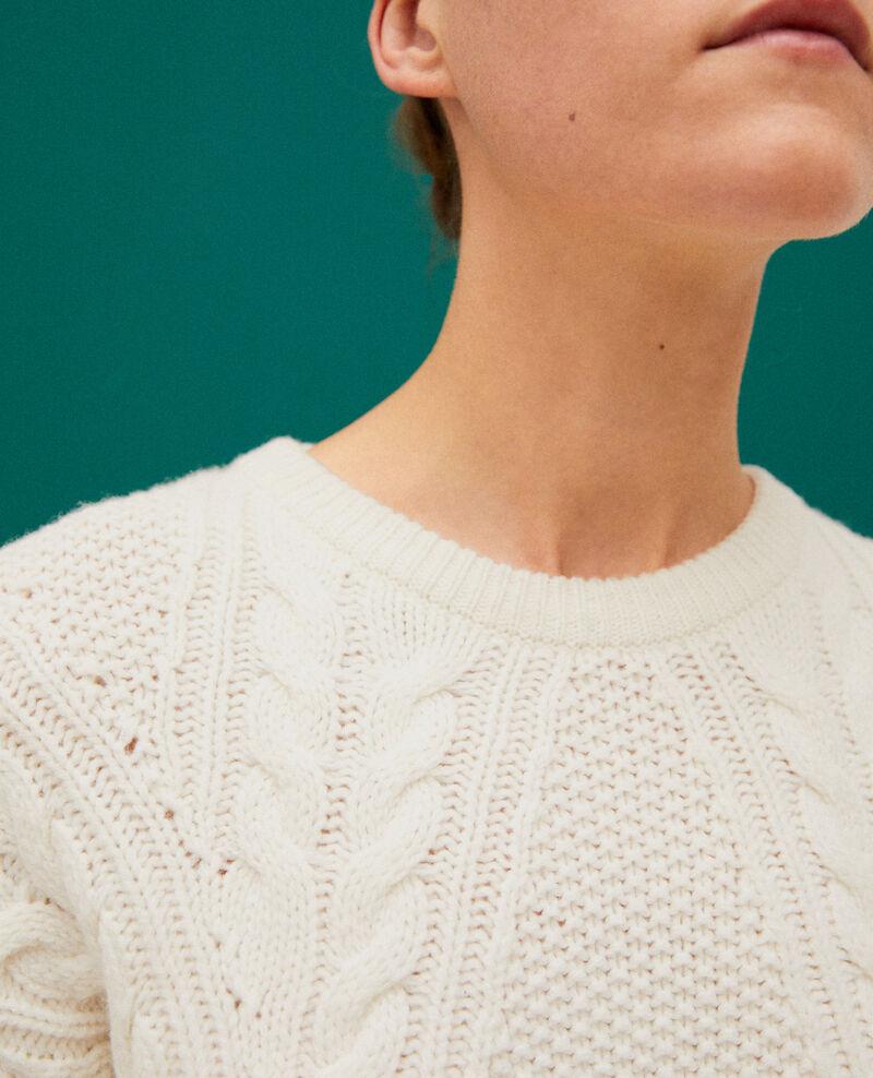 Jersey con detalles de trenzas Blanco Goonies