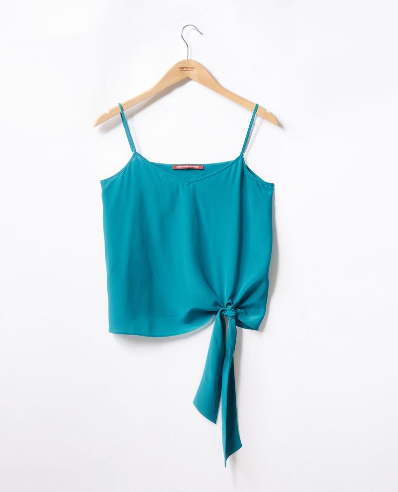 Camiseta de seda con tirantes Pacific green Fidelio