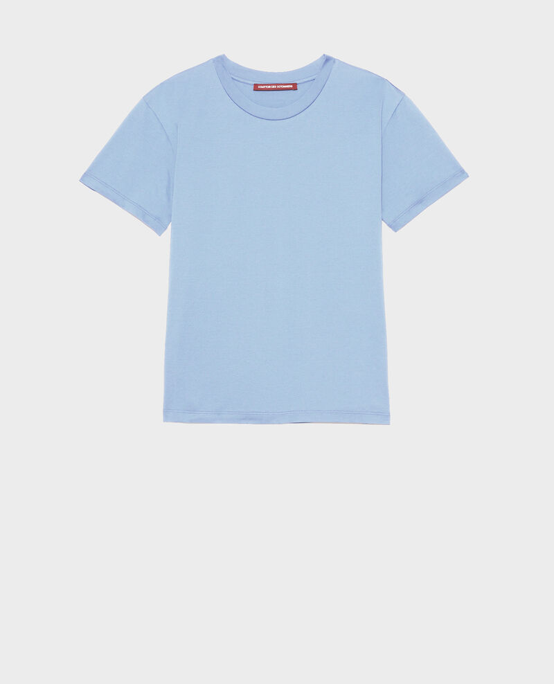 Camiseta de algodón con cuello redondo Blue heron Lirous