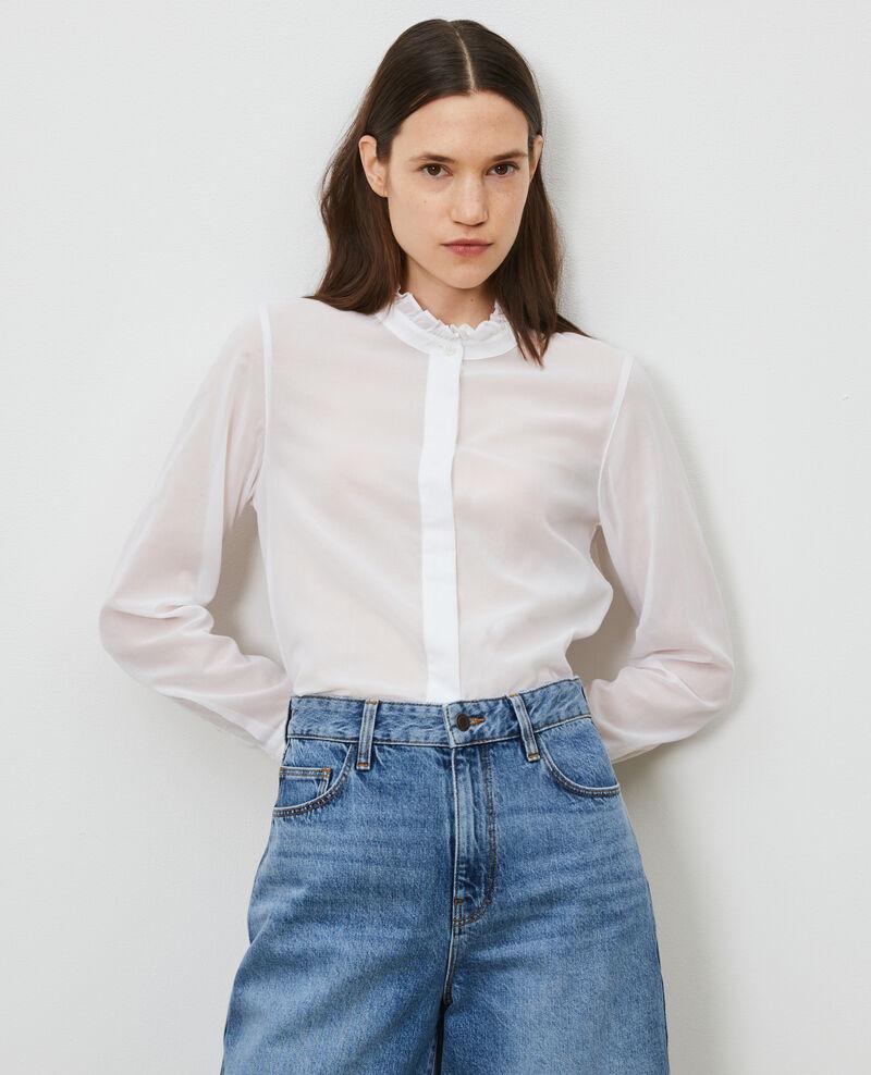 Camisa con cuello de volantes Brilliant white Nacelle