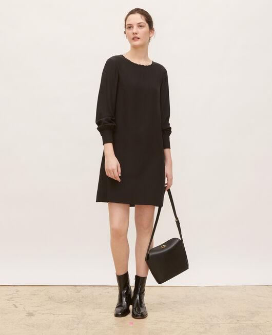 Vestido de seda amplio y corto BLACK BEAUTY