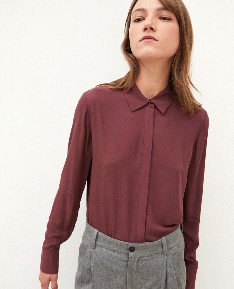 Camisa de corte recto Marrón 9danimo