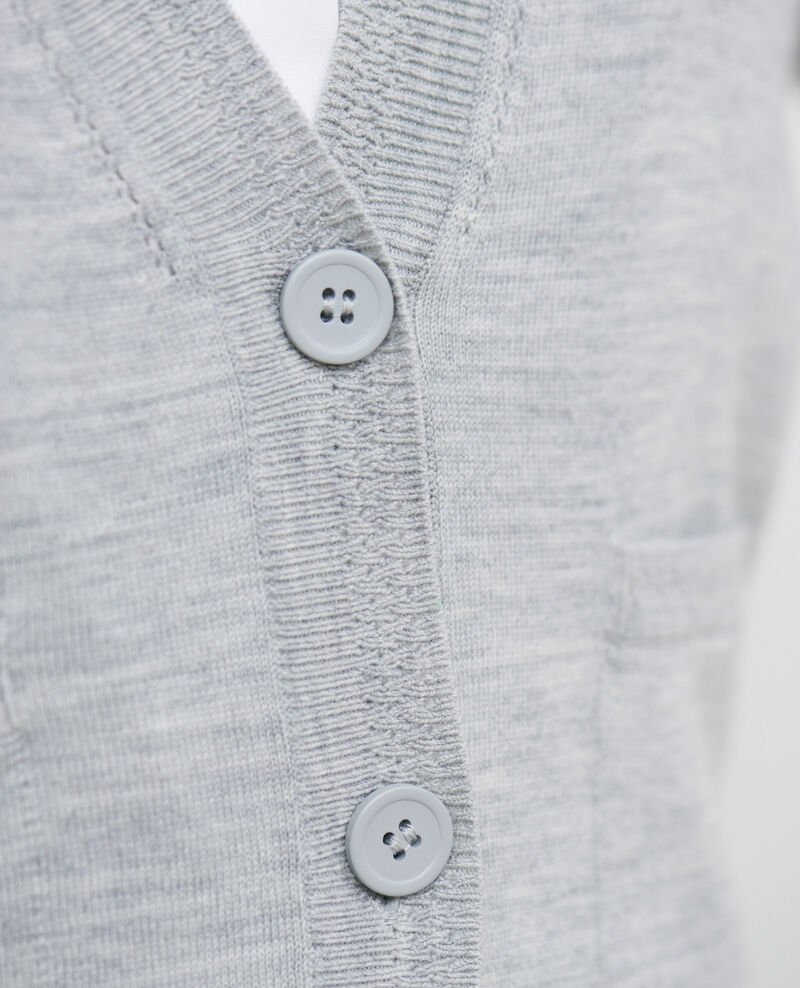 Cárdigan corto de lana Melange grey Palabre