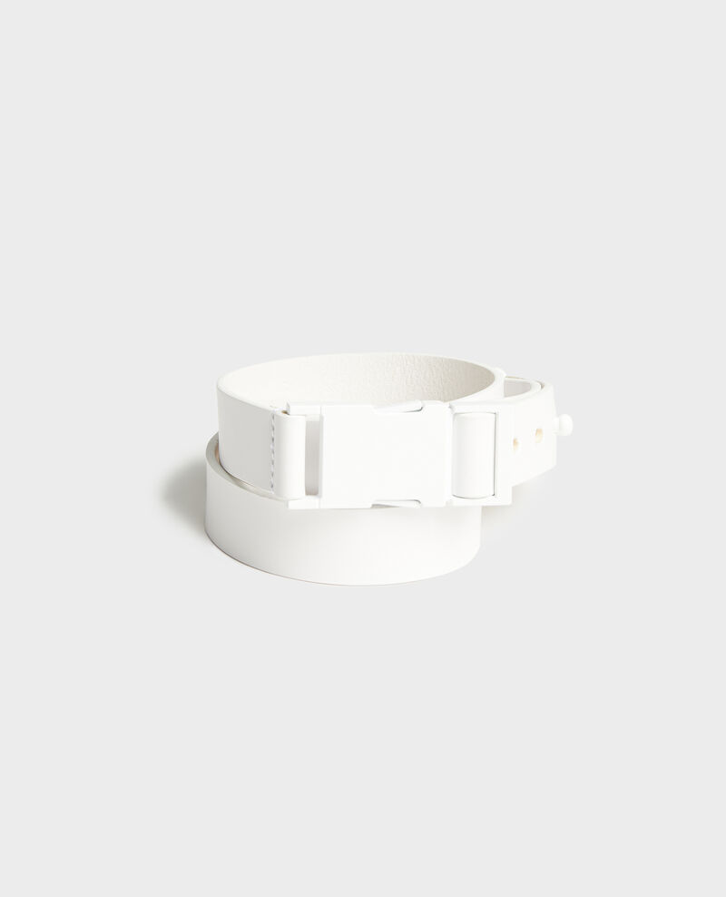 Cinturón de cuero Optical white Lequipe