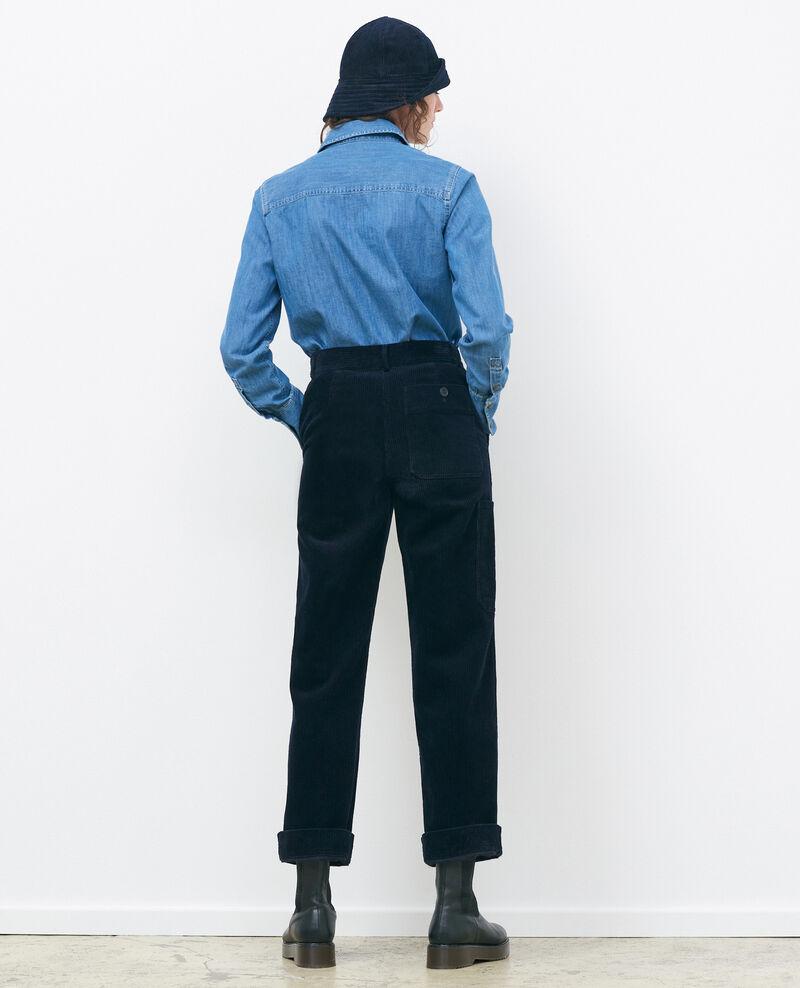 Pantalón ancho de pana Night sky Maora