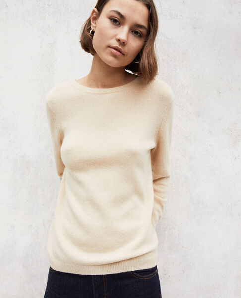Comptoir des Cotonniers - Jersey cuello redondo de cachemir Light beige - 3