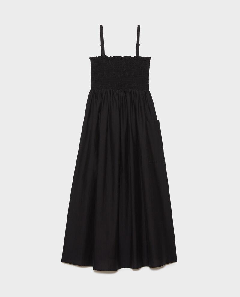 Vestido largo de algodón y seda Black beauty Nassandrou