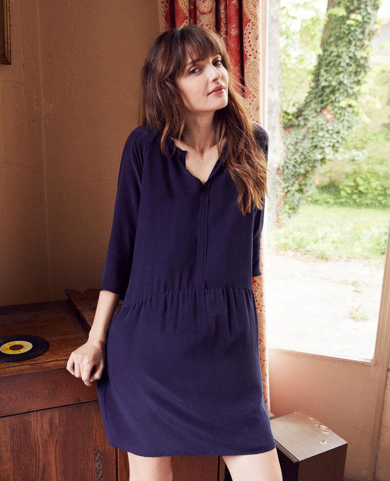 Vestido con seda Evening blue Jeopard