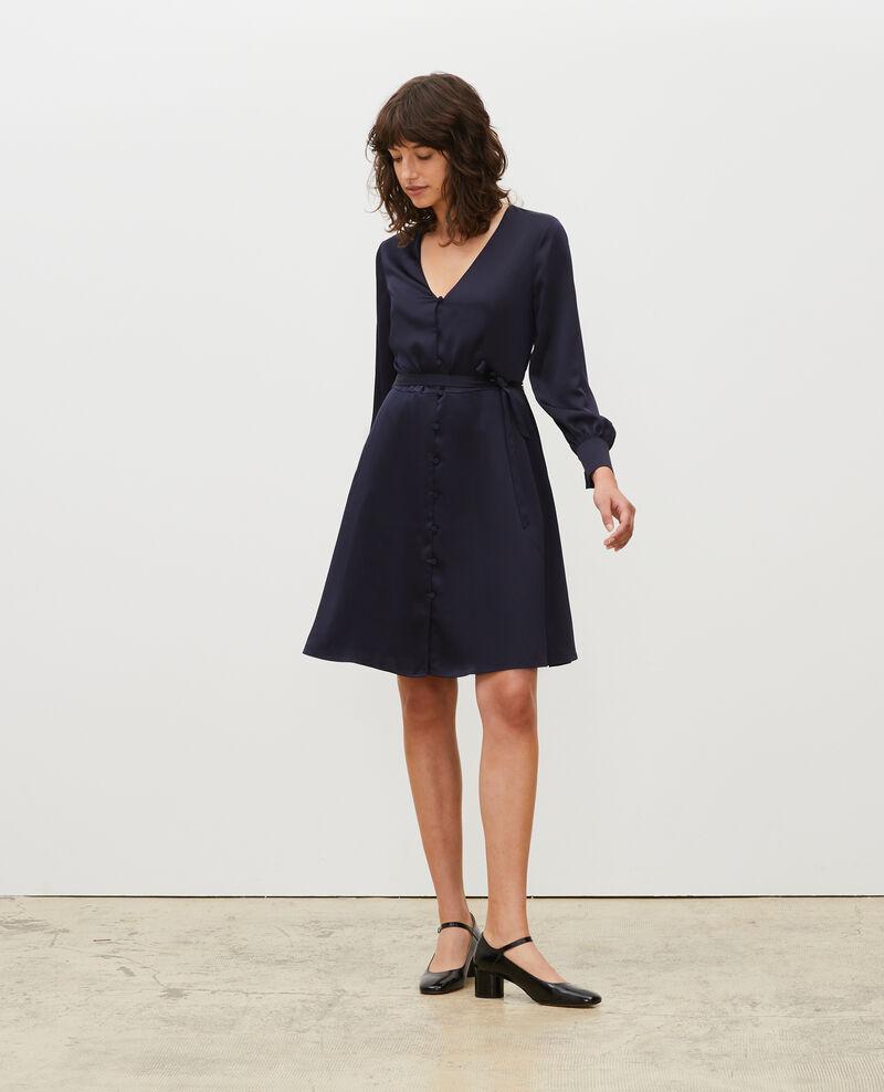 Vestido corto amplio con botones Night sky Margonou
