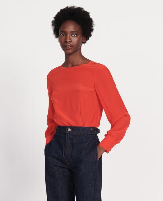 Blusa con bordados FIERY RED