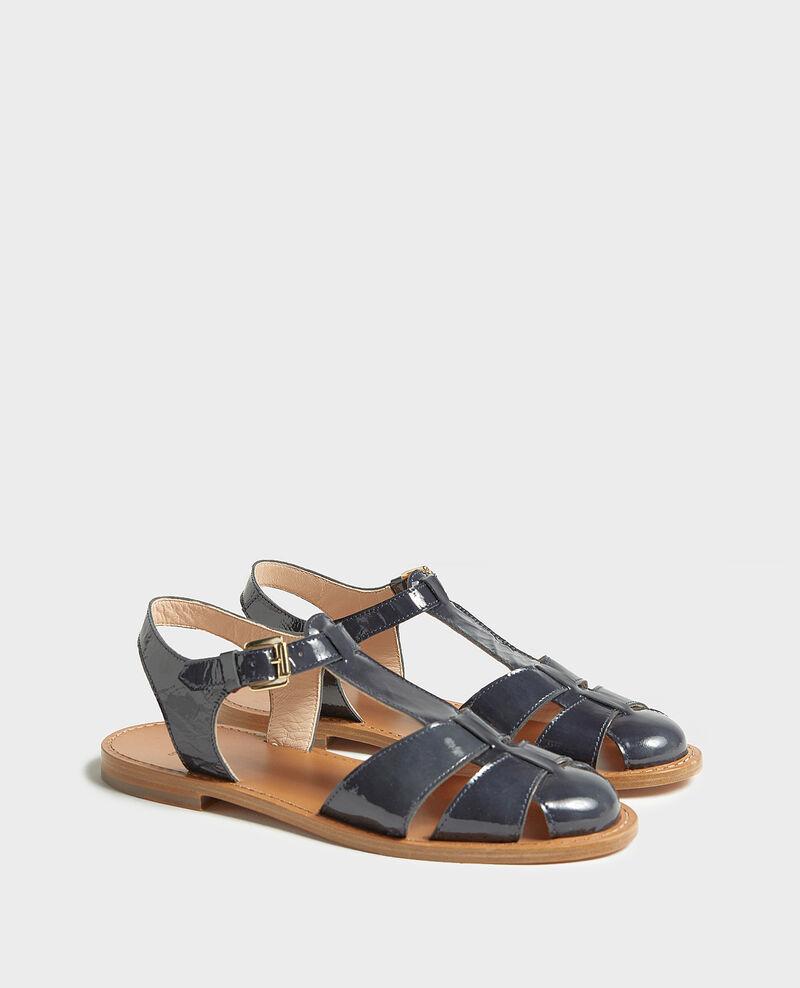 Sandalias de charol Maritime blue Lapiaz