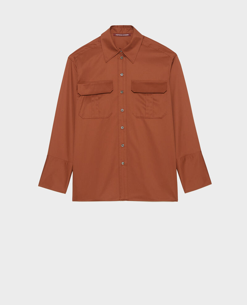 Camisa de hombre de algodón oversize Tortoise shell Mauryl