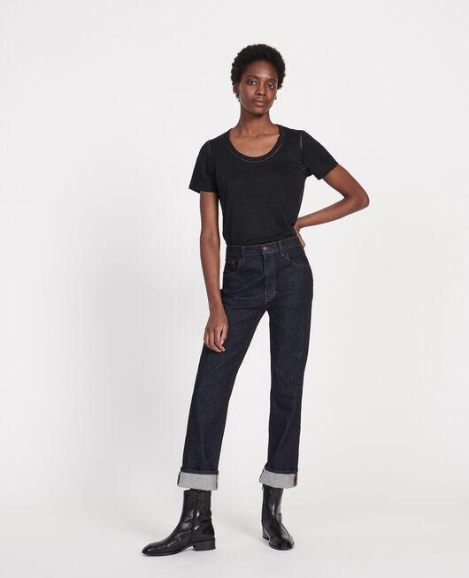 Camiseta de lino de jersey BLACK BEAUTY