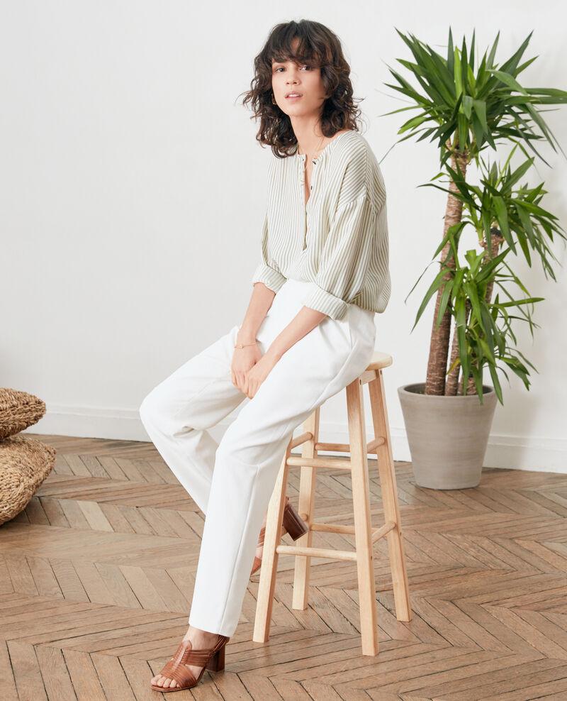 Pantalón de crepé Blanc Focarina