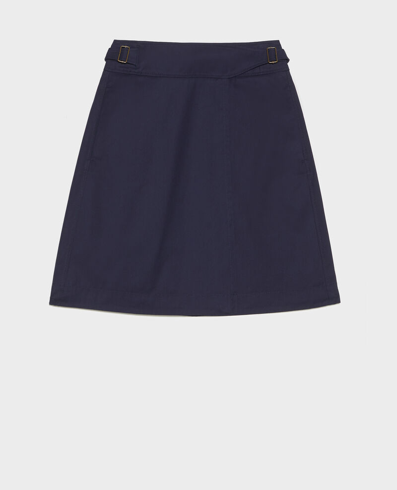 Falda cruzada de algodón Maritime blue Lyrtille