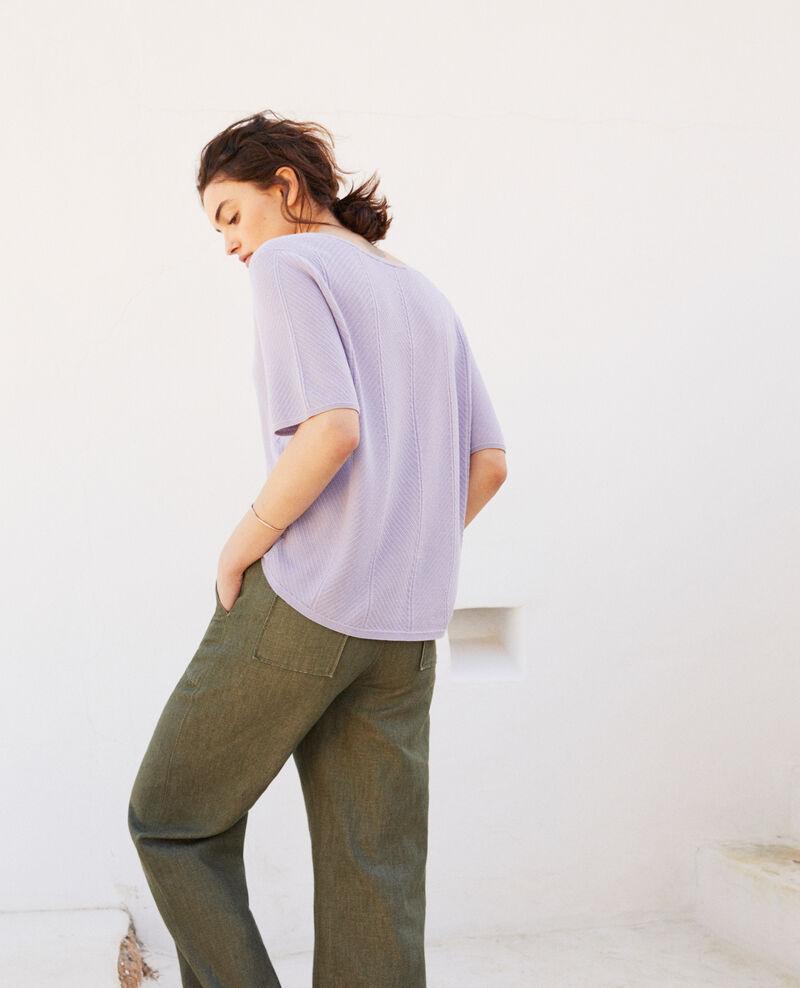 Jersey de algodón 3D Purple Irankana