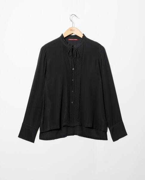 Comptoir des Cotonniers - Blusa de seda Noir - 3