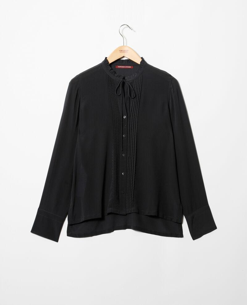 Blusa de seda Noir Irta