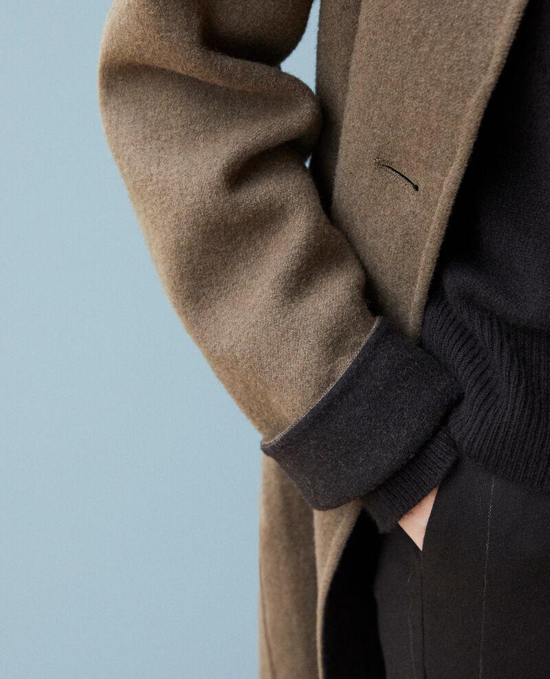 Abrigo con cuello subido Olive night Gexpresso