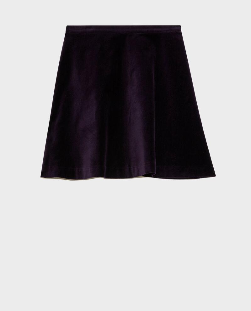 Falda corta acampanada de terciopelo Purple Pair