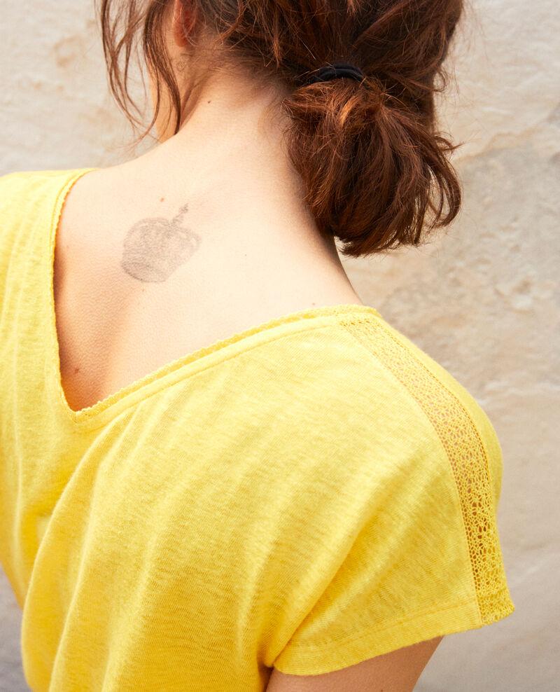 T-shirt en lin Spice yellow Itlanta