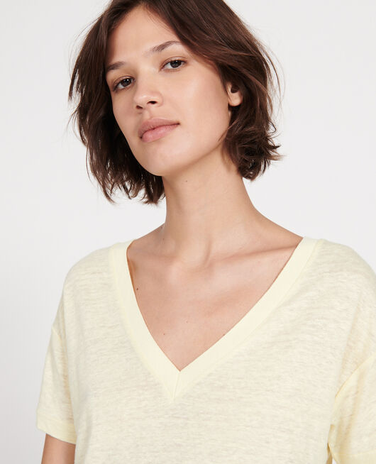 Camiseta de lino TENDER YELLOW