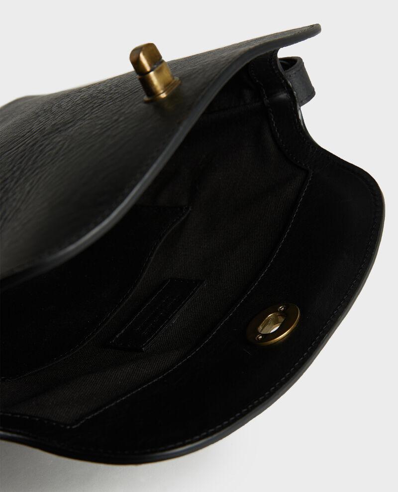 Bolso de cuero con bandolera corta Black beauty Lidylle