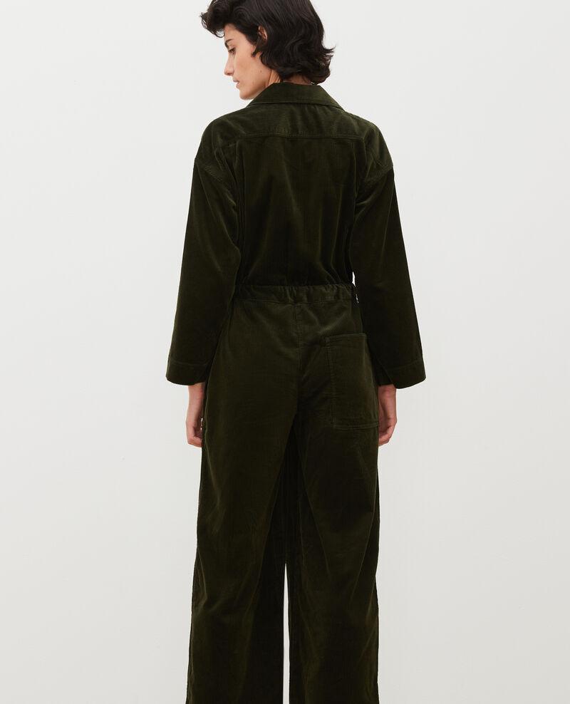 Monopantalón oversize de pana Military green Marmax