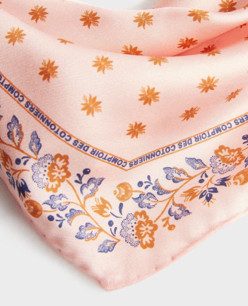 Fular de seda con forma de rombo Seashell pink Nandana